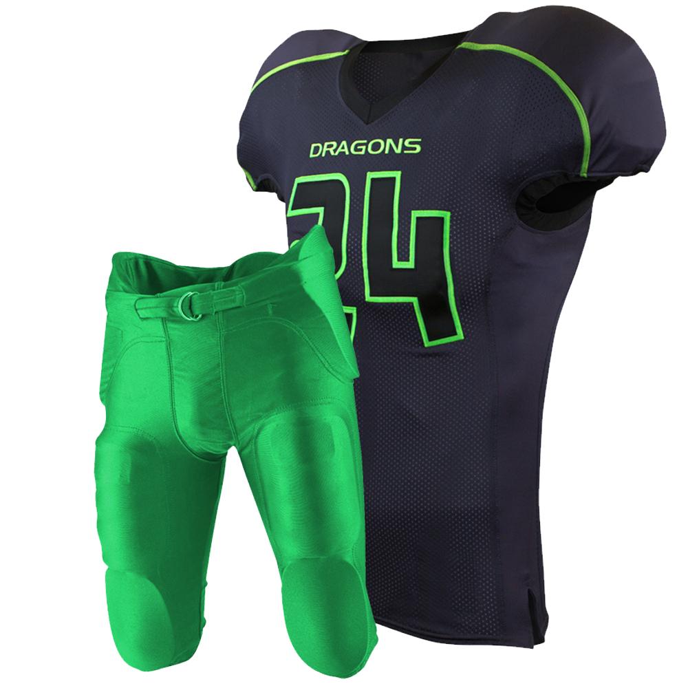 4141242257b American Football Uniforms Jersey Trousers Shorts Maker Supplier